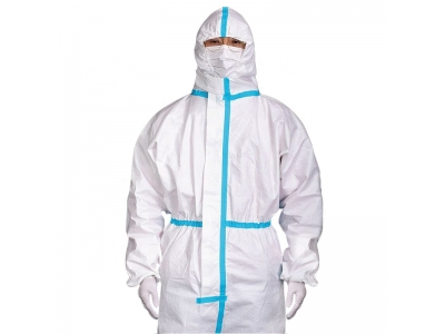 Protective Clothing Disposable SMS Coverall Ce safety Isolation Gown in Stock